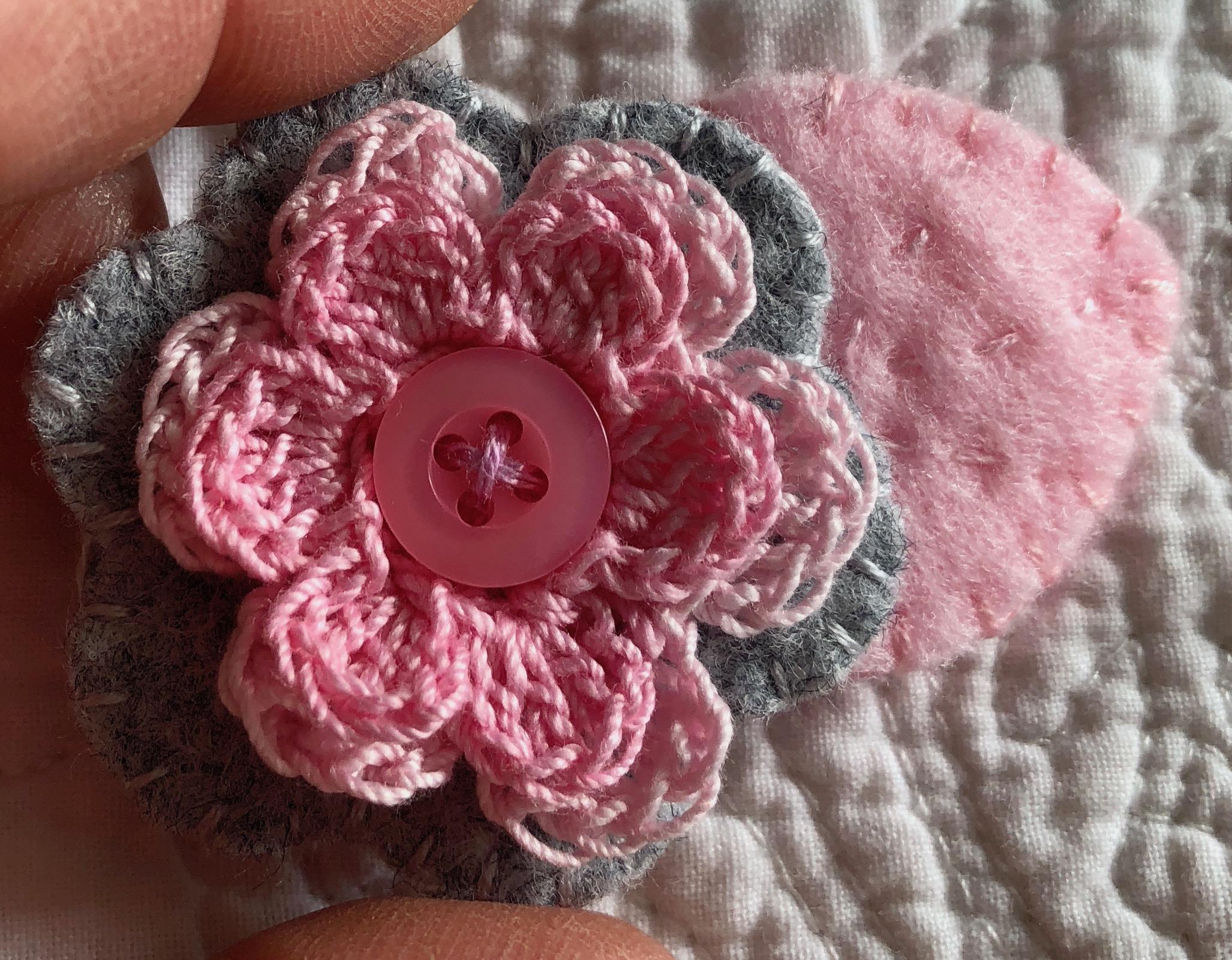 Small flower brooch.