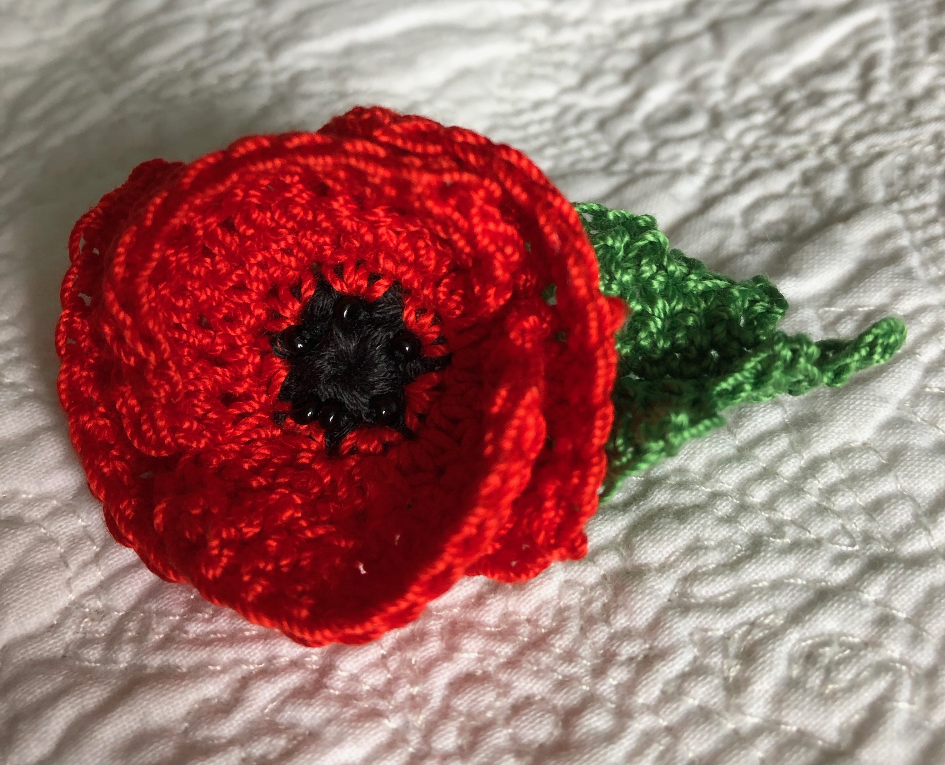 Miniature Poppy brooch.