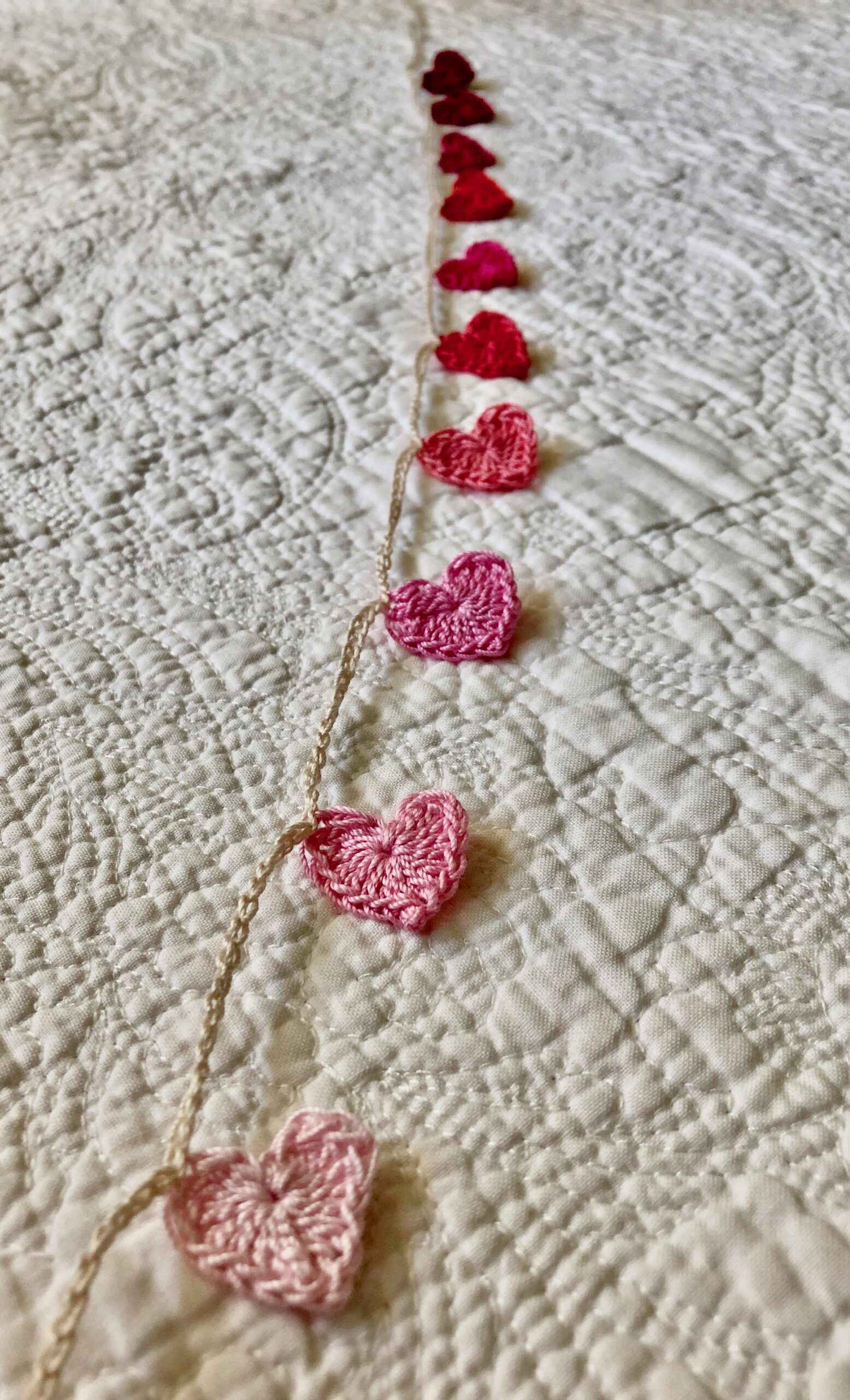 Hearts on a string.