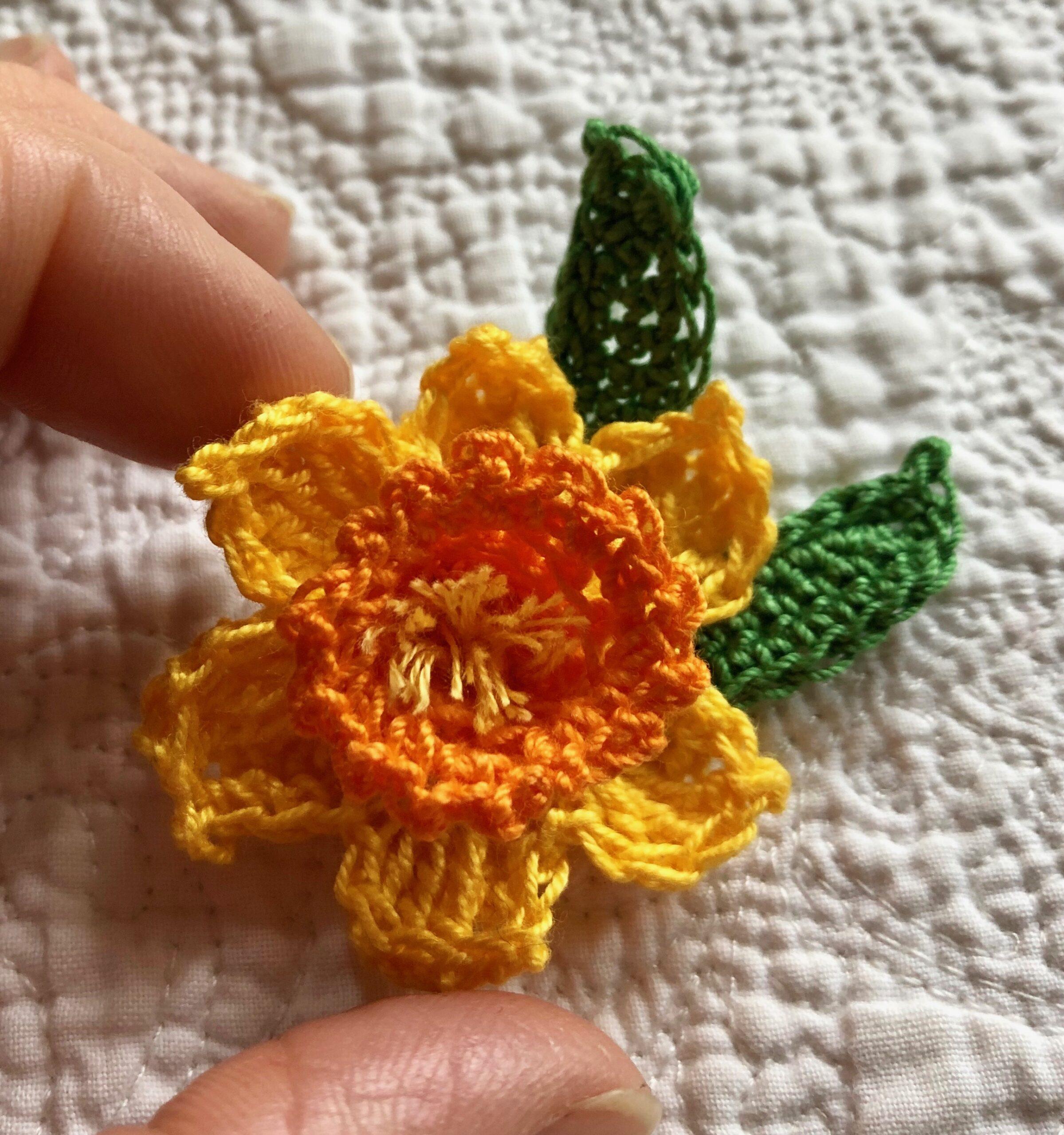Miniature Daffodil brooch.