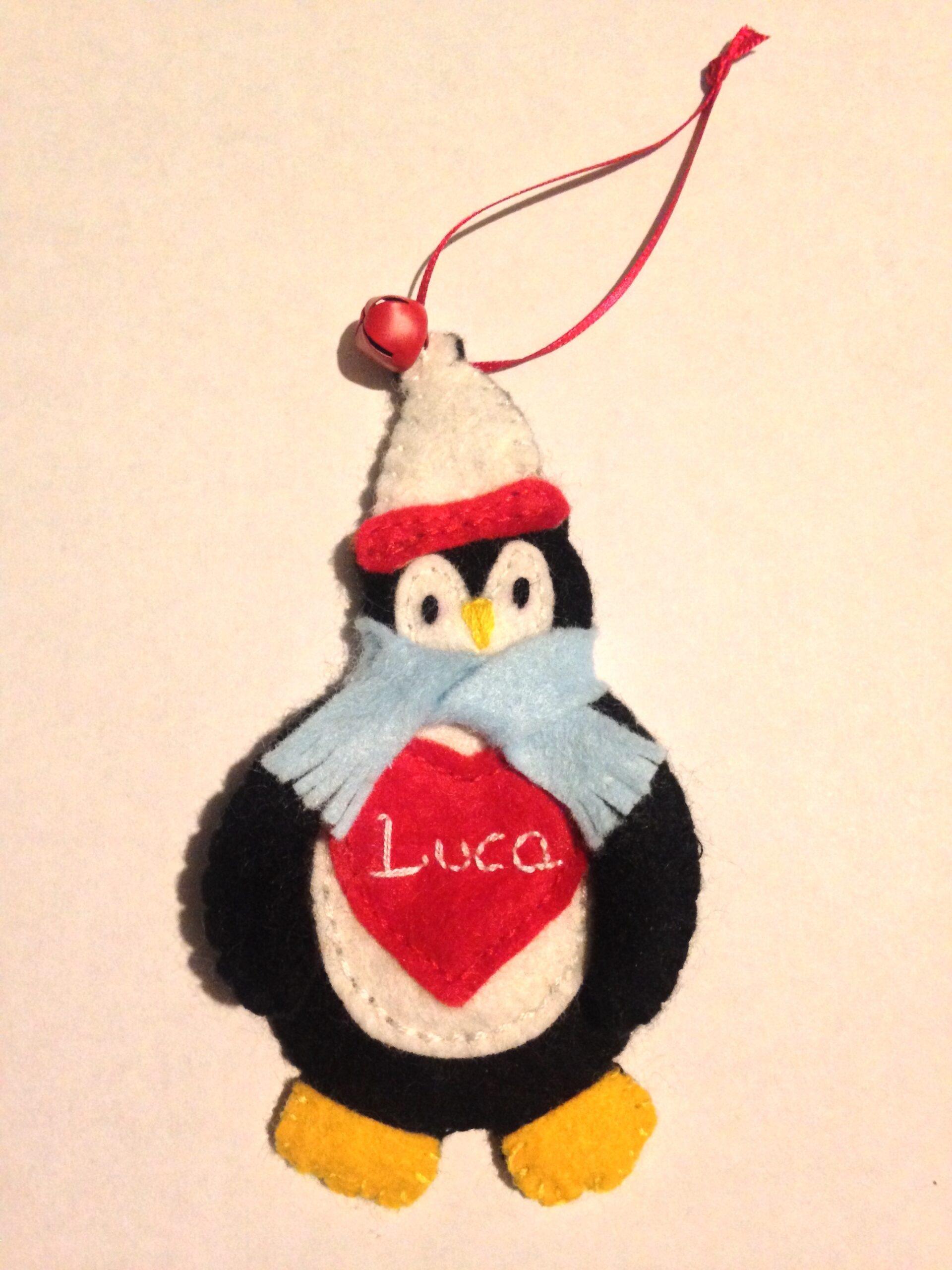 Little winter Penguin hanging decoration.