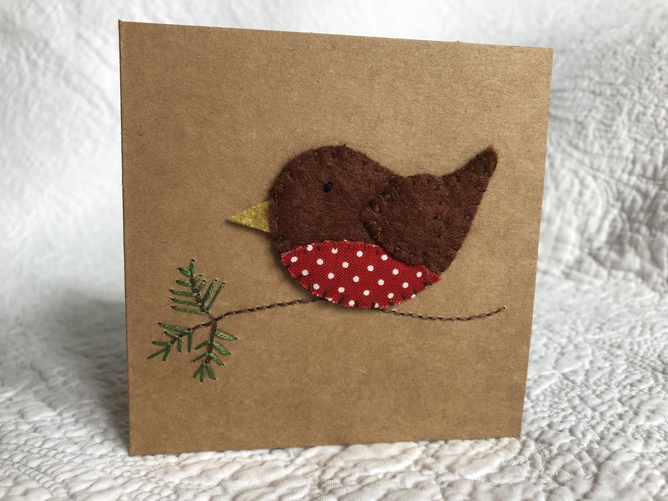 Little Robin greetings card.