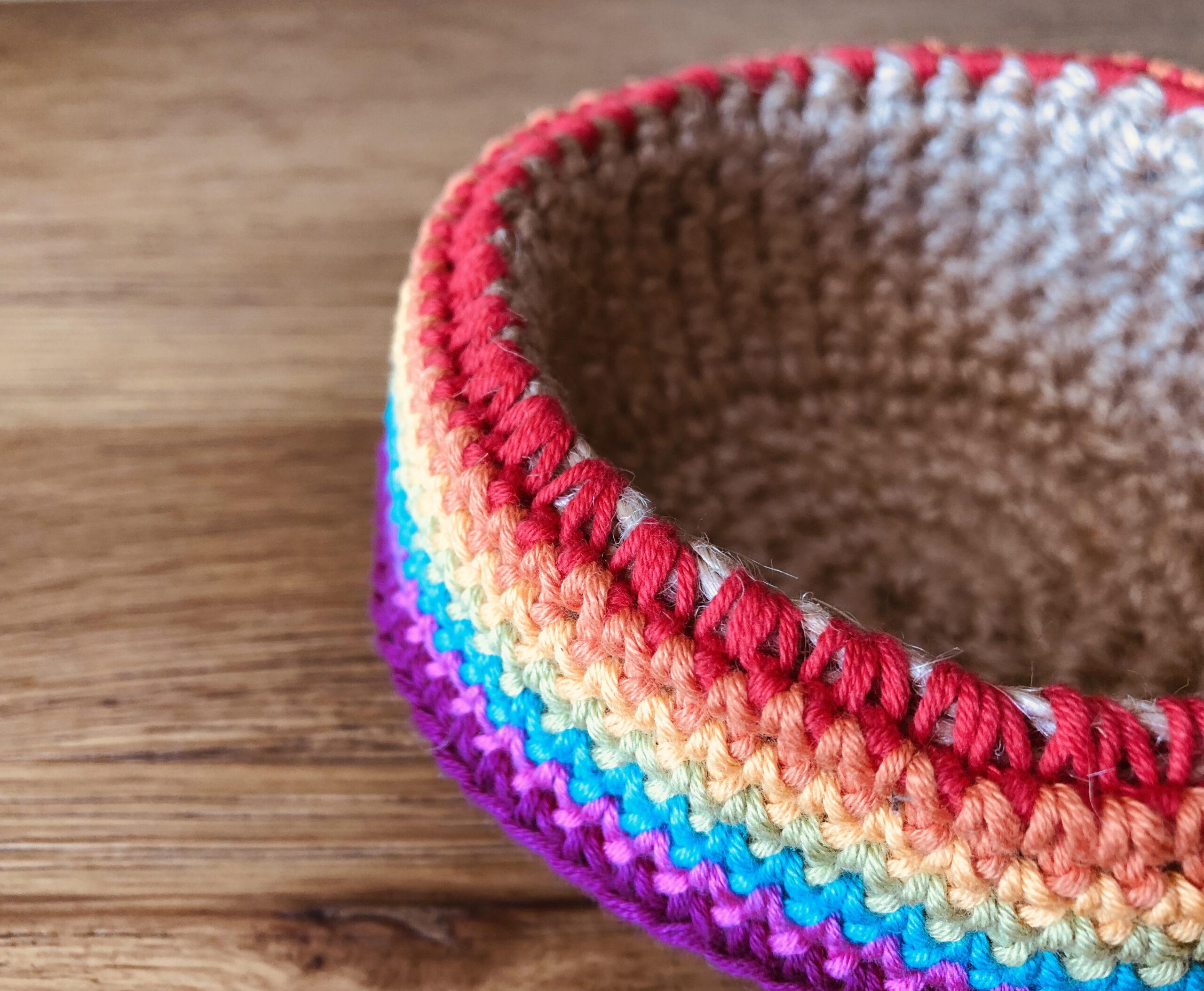 Rainbow basket.